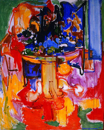 Modern Art Table Table with Fruit and Coffeepot by Hans Hofmann, 1936 ...